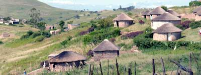 Native dwellings (Rondavels) in Kwa-Zulu Natal Province