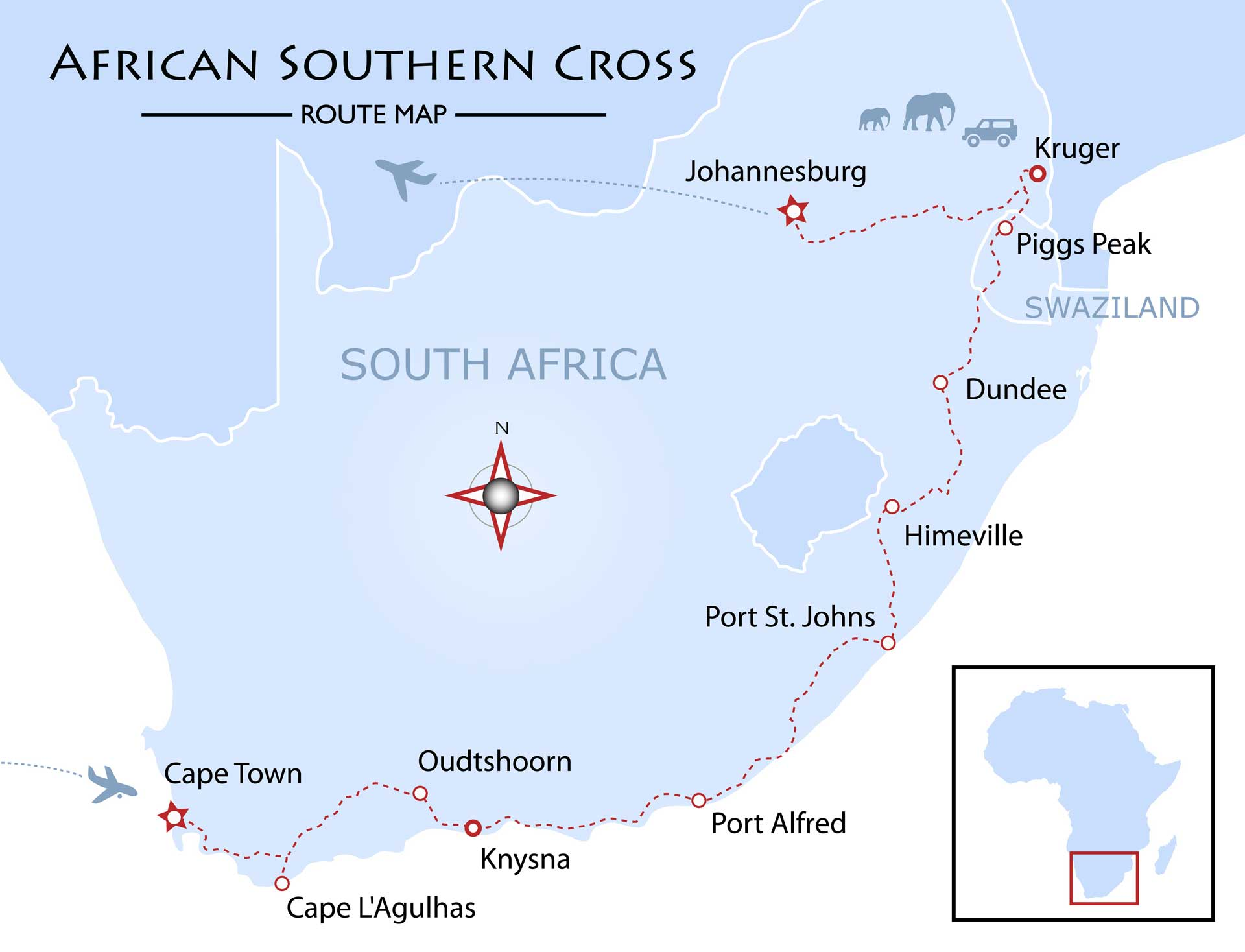 Southern Cross Map