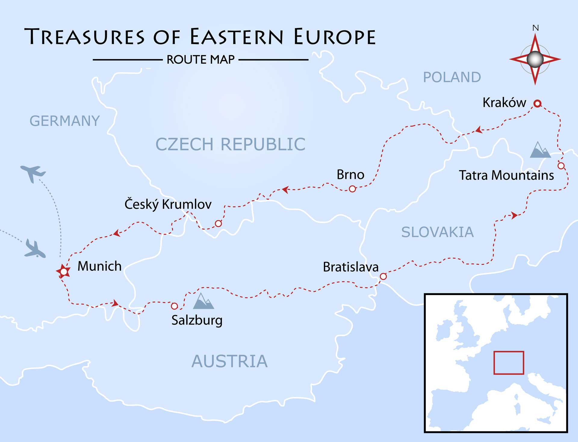 Treasures of Eastern Europe Map