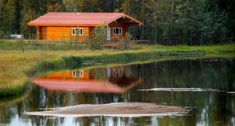 Alaska - Lake Cabin Scene