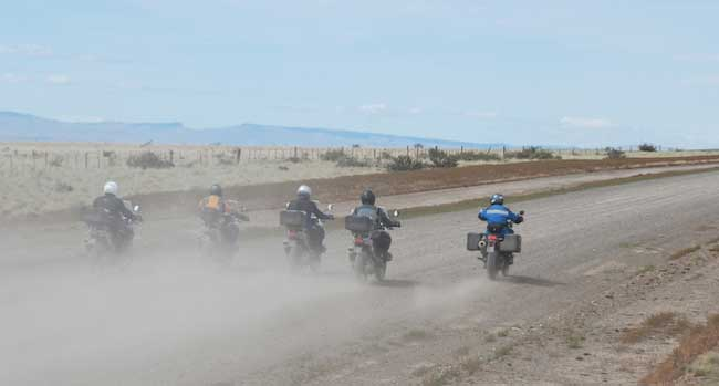 Bariloche to Ushuaia - 5 riders leaving Patagonia
