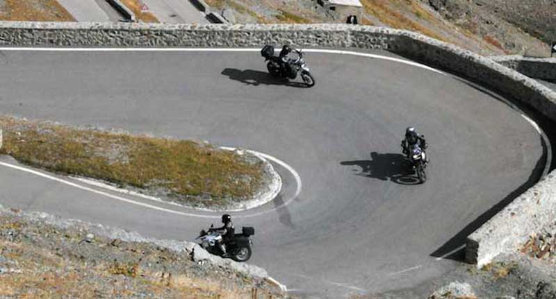 Birds-eye view of the Stelvio