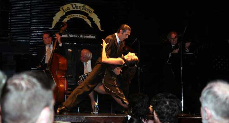 An Ayres Adventures Kick-off Dinner at a Buenos Aires Tango Show