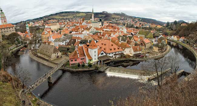 Cesky Krumlov Panorama