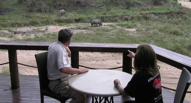 From the balcony of our lodge - Jock Safari Lodge - Kruger National Park