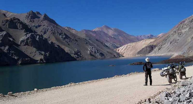 Lake along the Agua Negra Pass Road - Chile