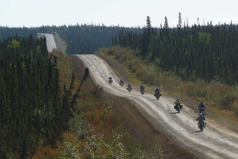 Line of Dalton Road Riders