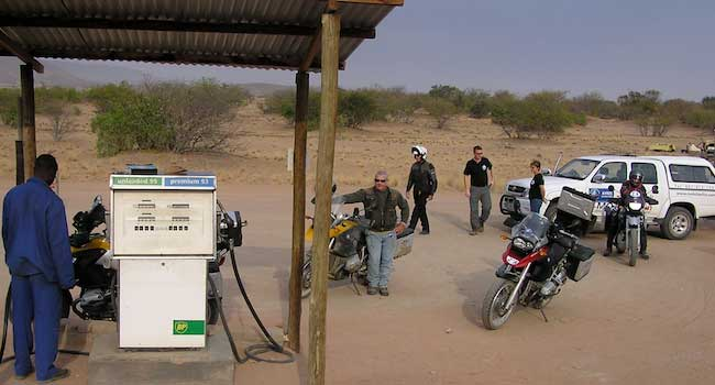 Fuel Stop in the Namibian Desert