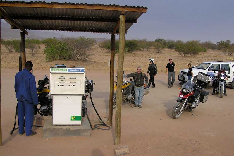 Namibian Desert Gas Stop
