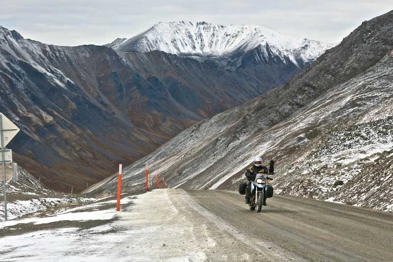 Riding the Atigun Pass