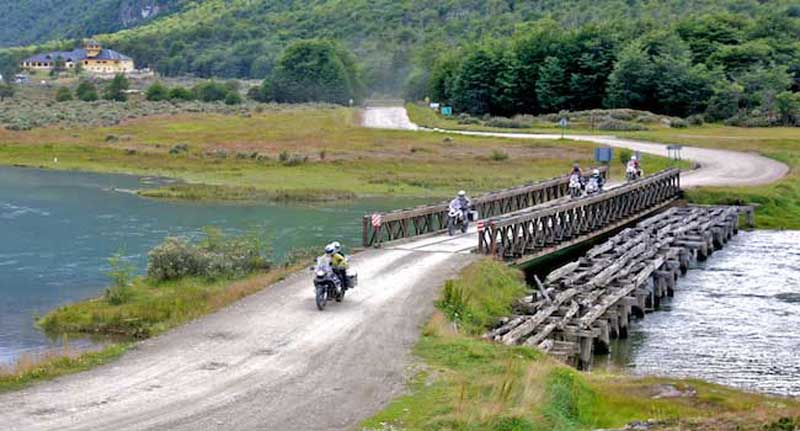 Riding through Tierra del Fuego National-Park
