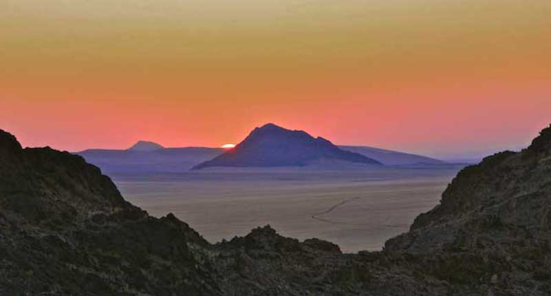 Sunset at Sesriem, Namibia