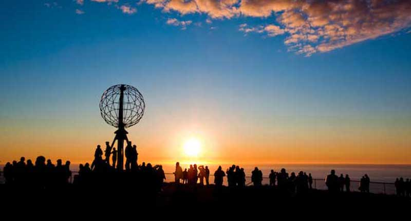 The Midnight Sun at Norway's North Cape