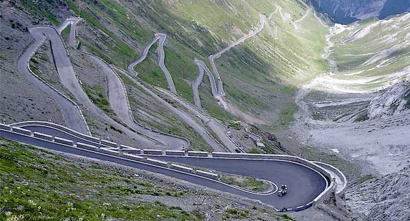 The Mighty Stelvio Pass the Alps