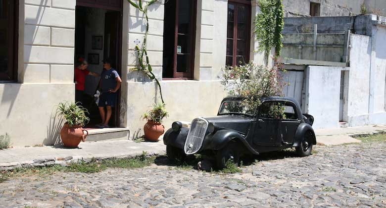 Treed Car - Colonia del Sacramento, Uruguay