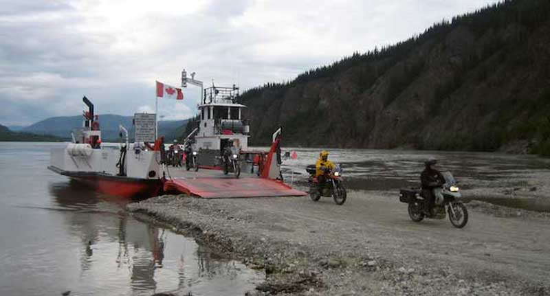 Yukon Ferry - Entering Dawson City