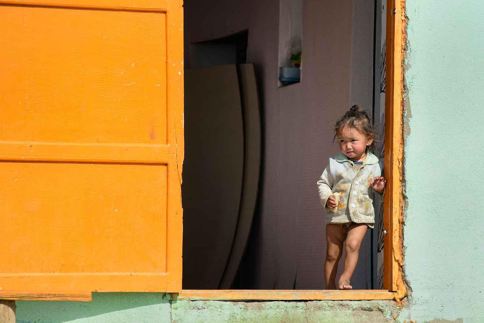 A little boy in Mongolia