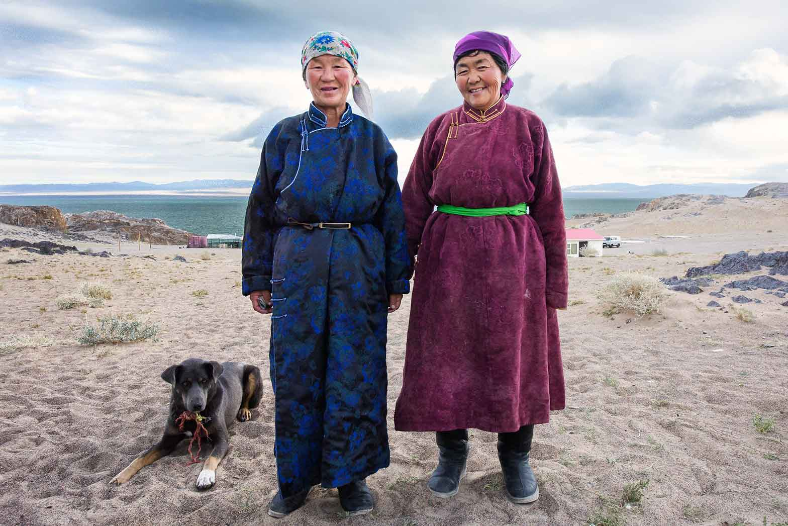 A surprise visit during breakfast in Mongolia
