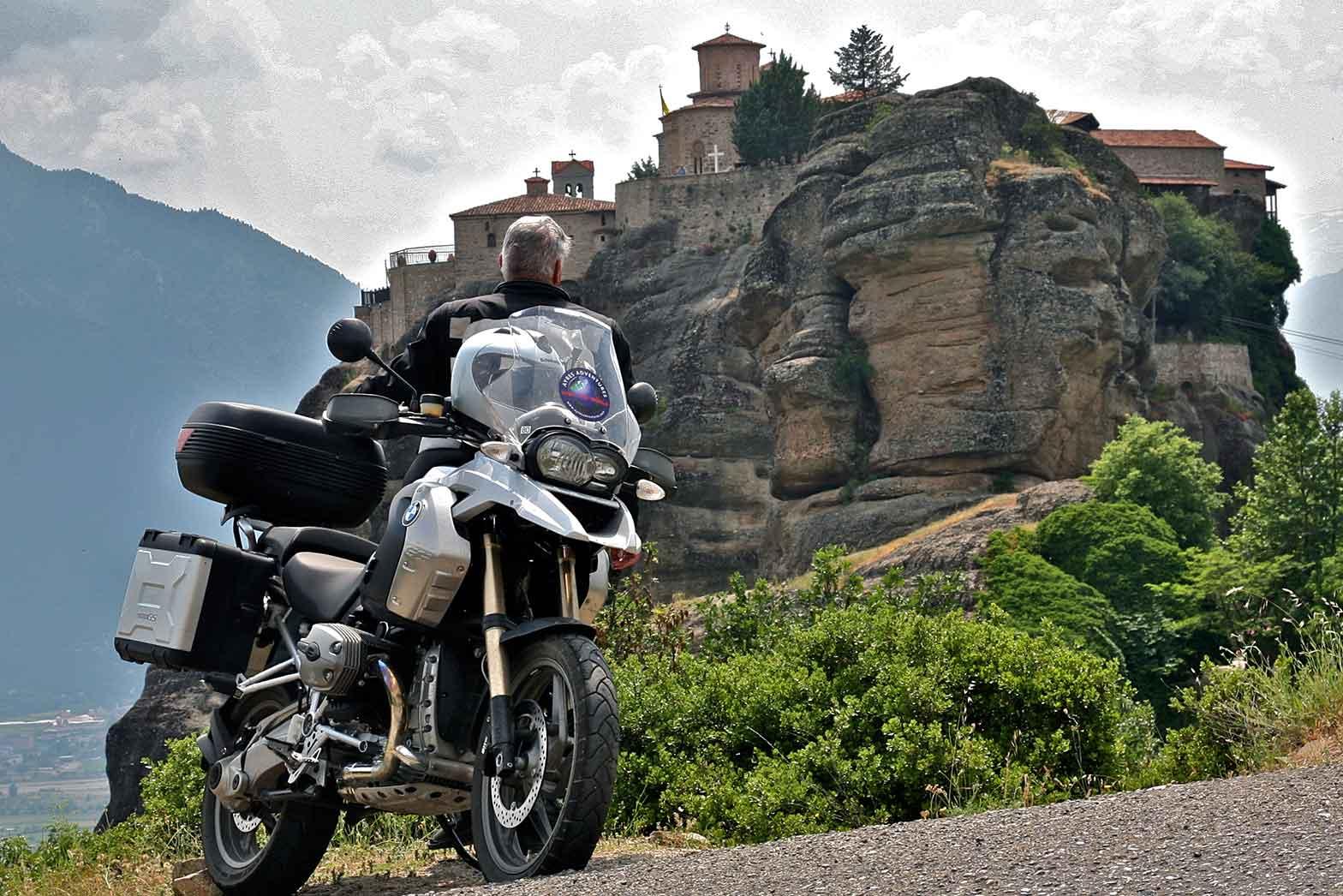 Admiring Meteora monastery