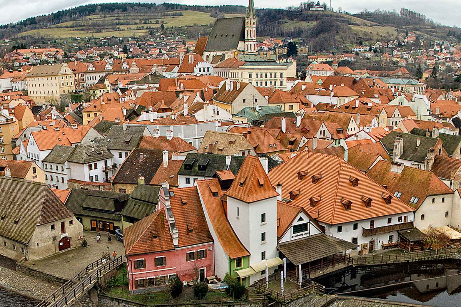 Cesky Krumlov,  the Czech Republic