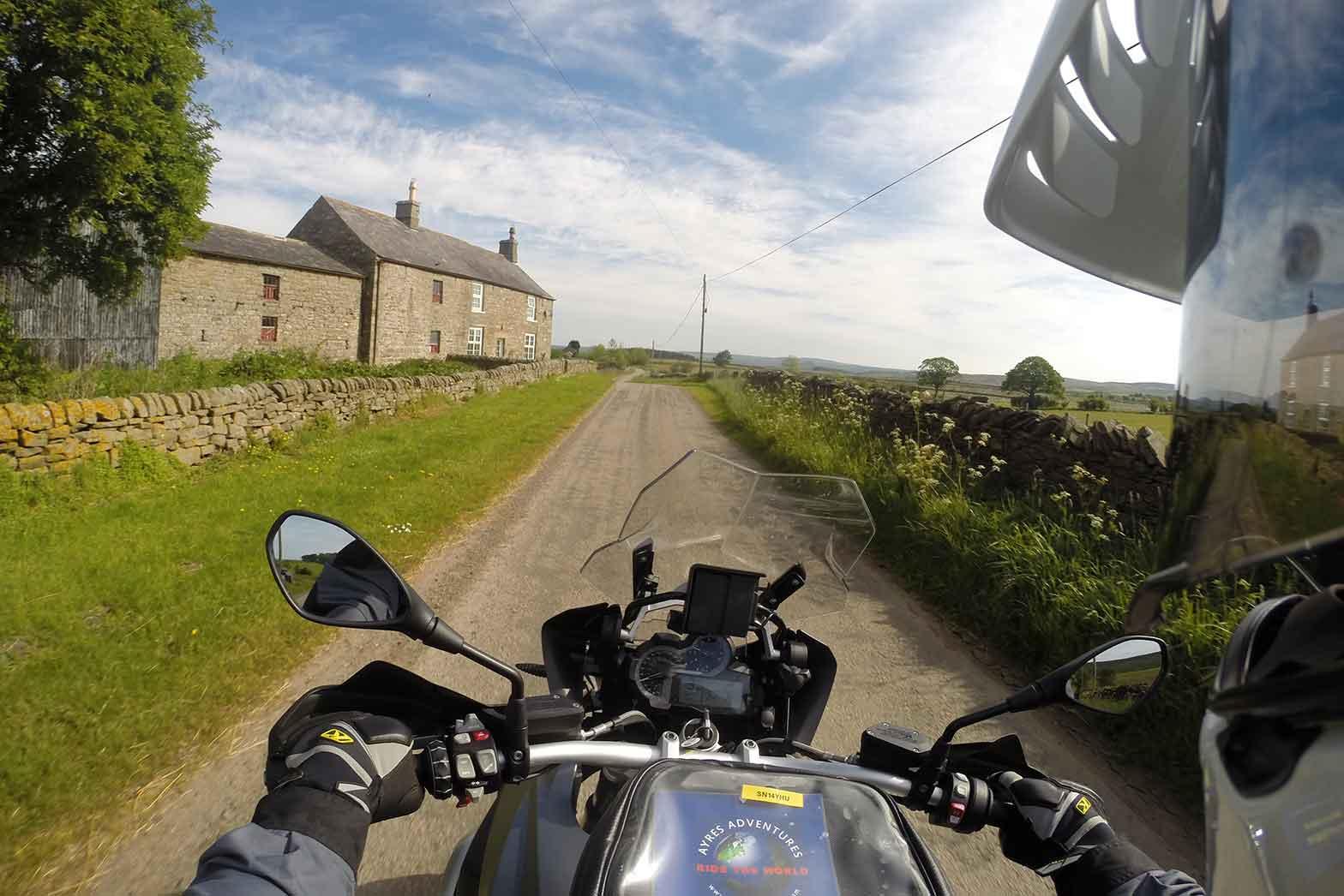 Passing through the farmlands