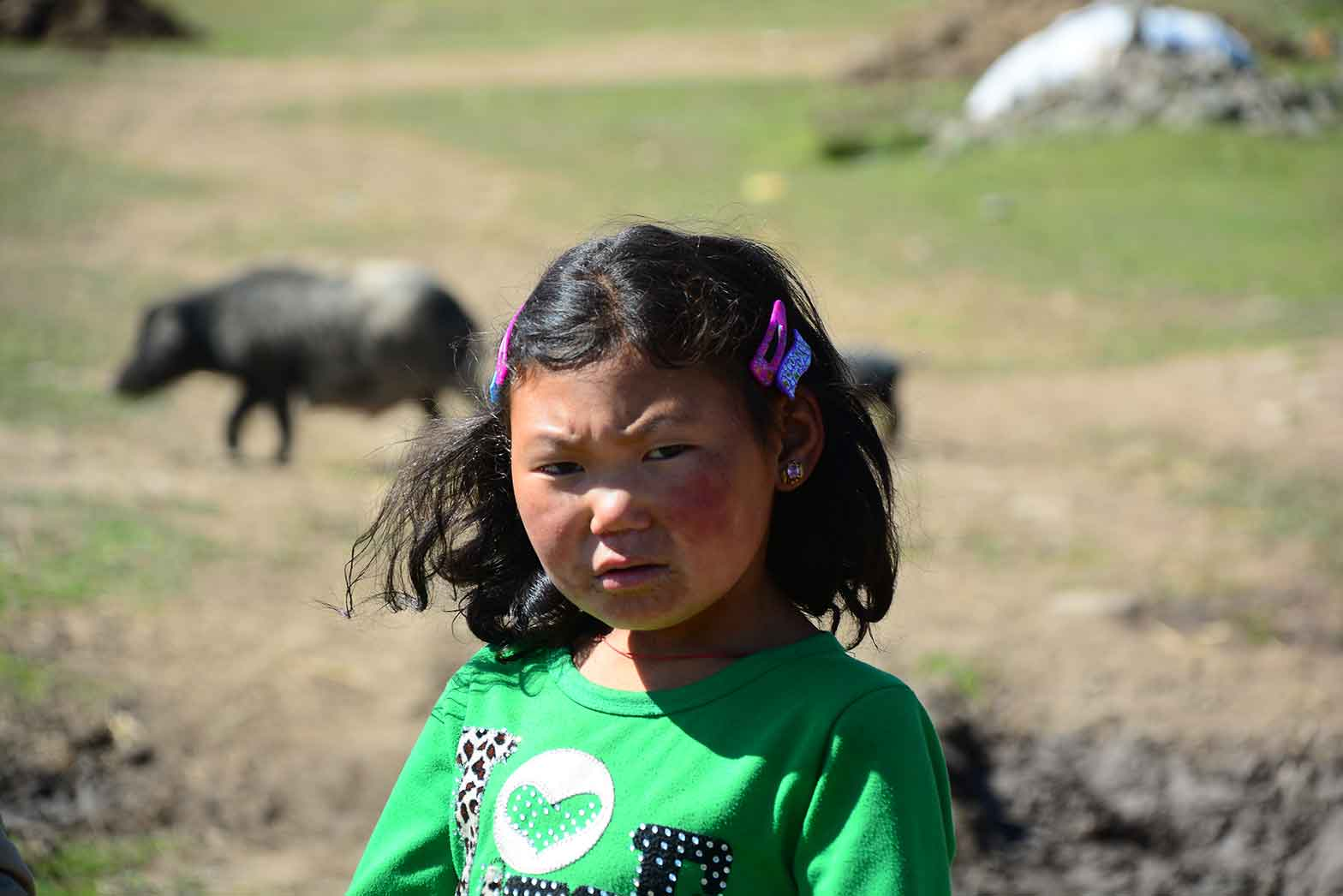 Girl in Chinese village