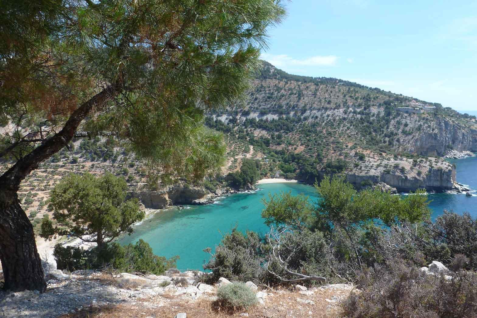 Greek coastline