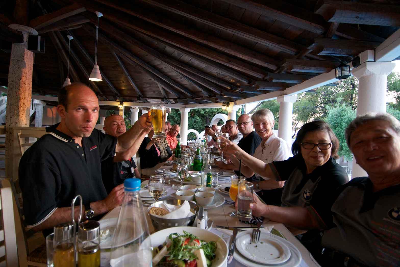Greek style dinner