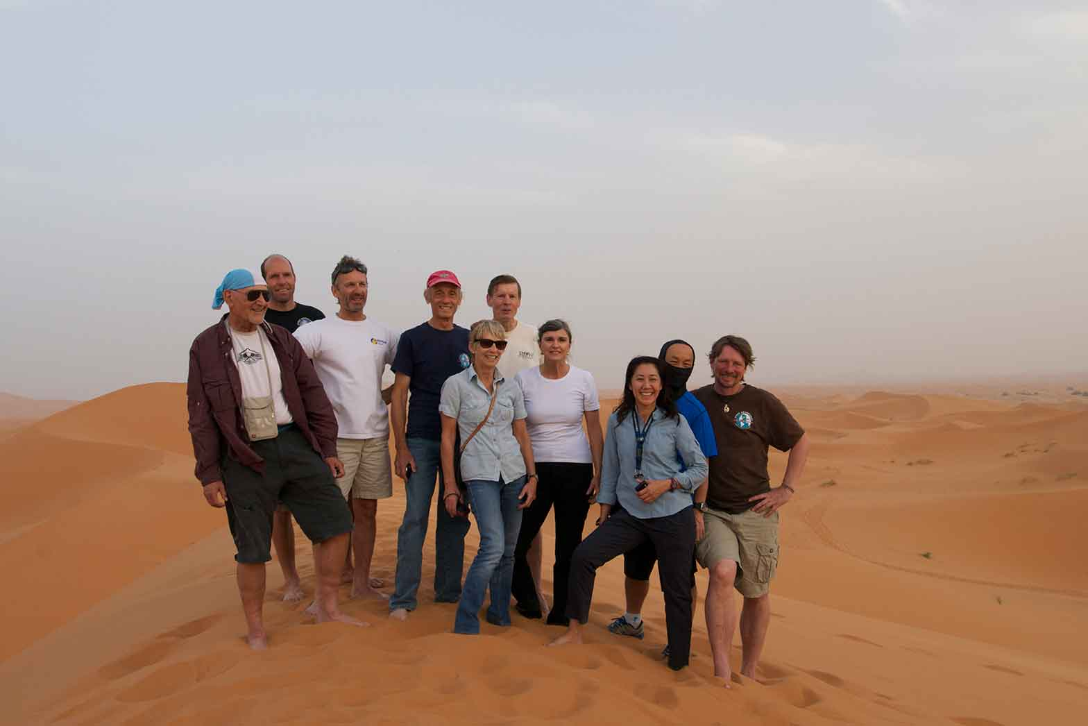 Group in the desert