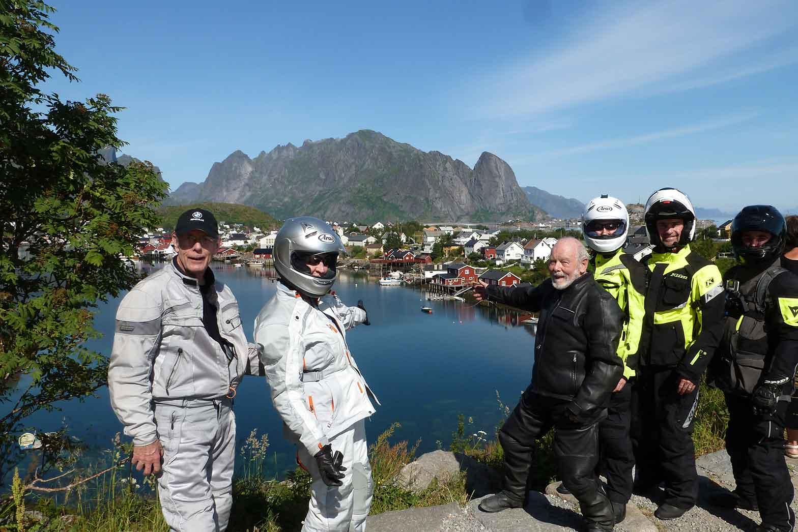 Group shot at Lofoten Island