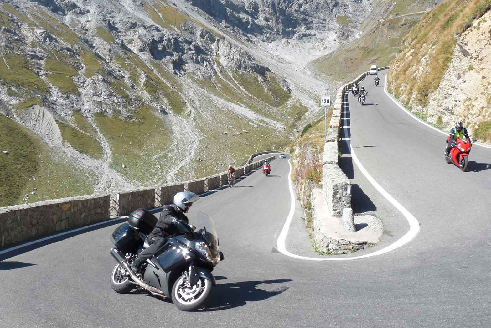 Hairpin turns, Indian Summer in the Alps