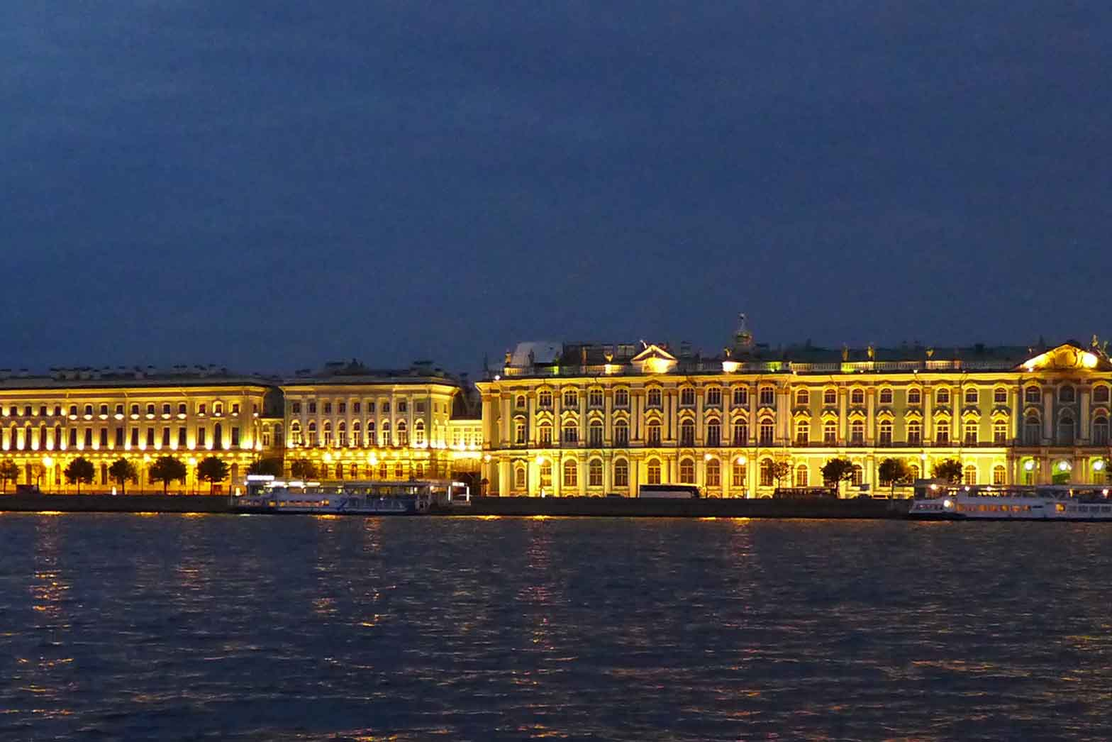 Hermitage at night