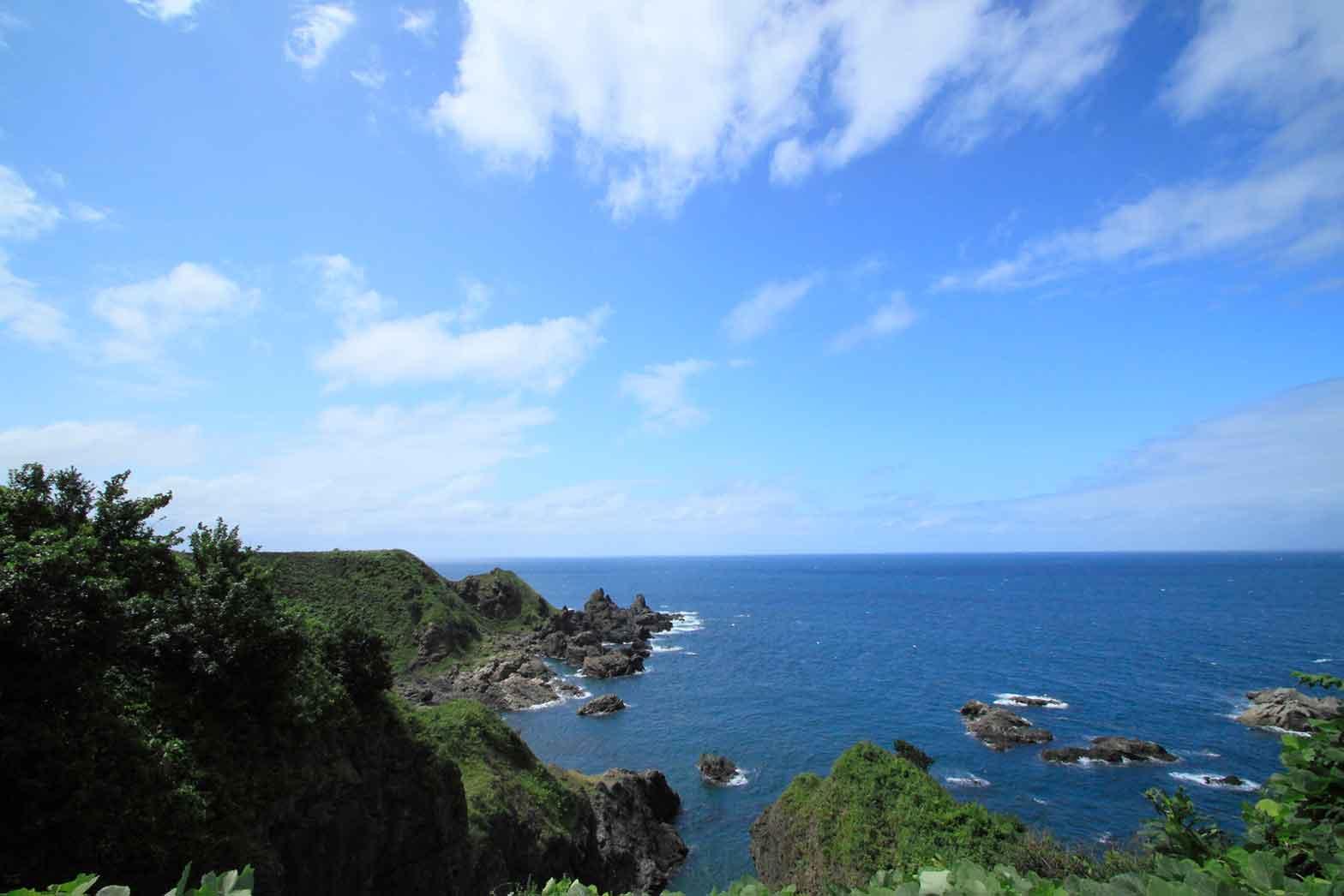 Beach on a sunny day, the Sea of Japan