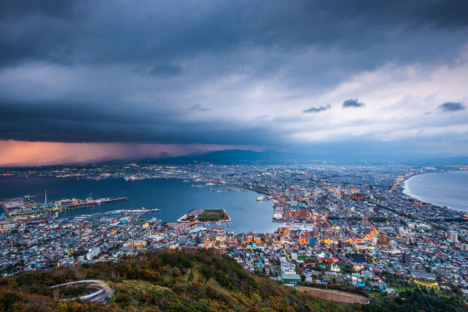 Hakodate city panorama