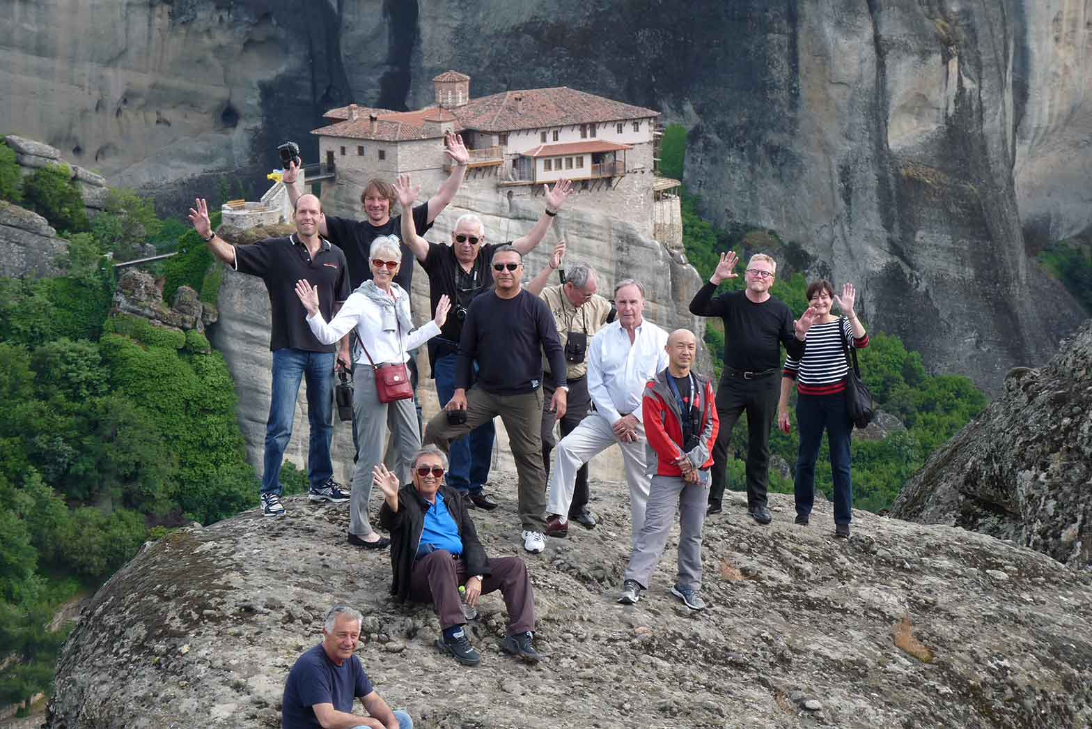 In front of Meteora monasteries