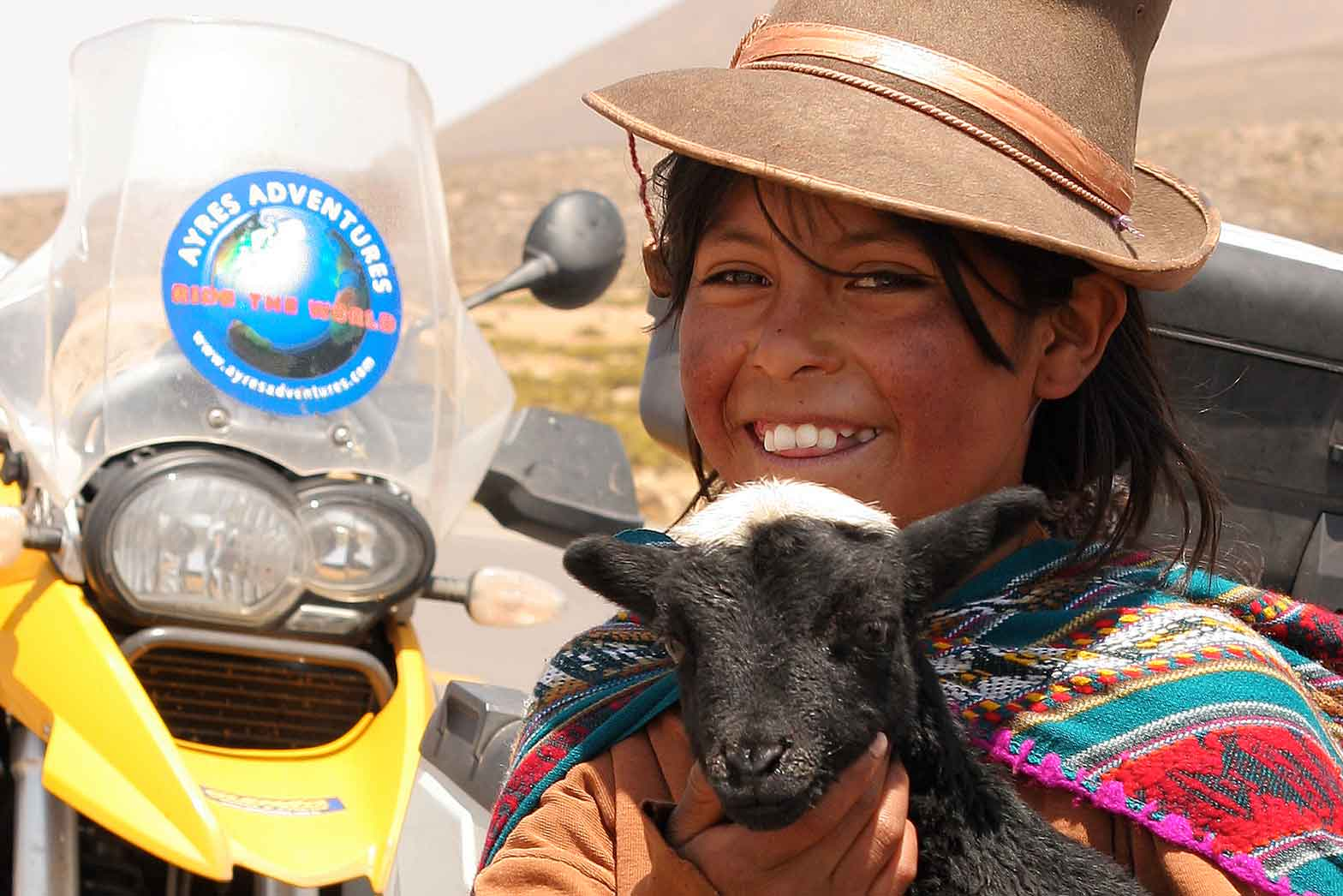 Indian Girl with lamb