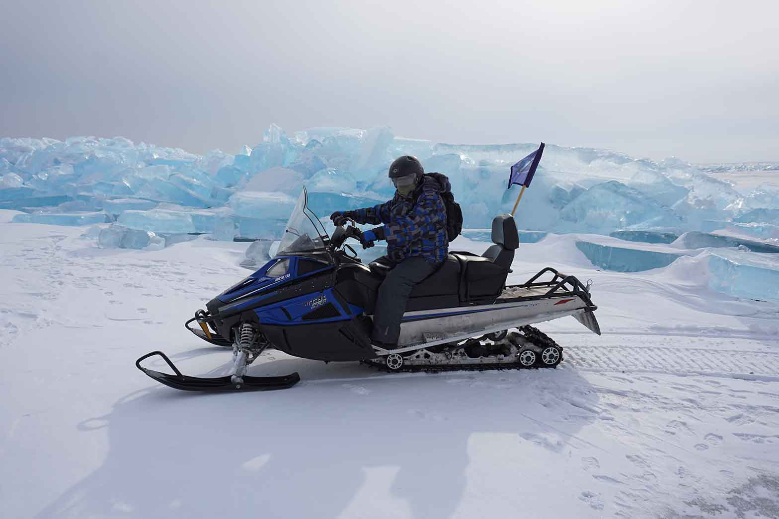 Lake Baikal glacier