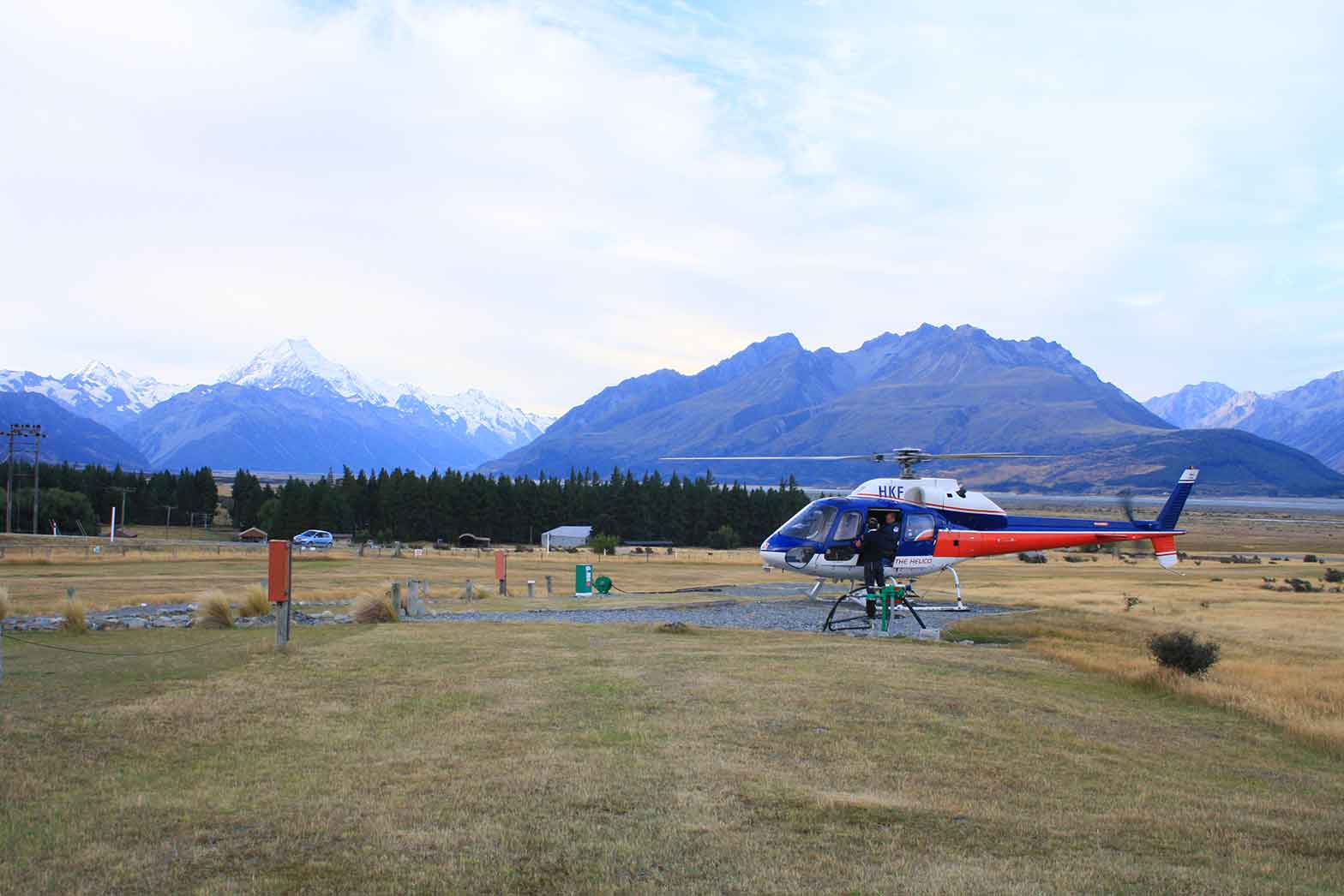 Preparing for a scenic helicopter flight in Franz Josef
