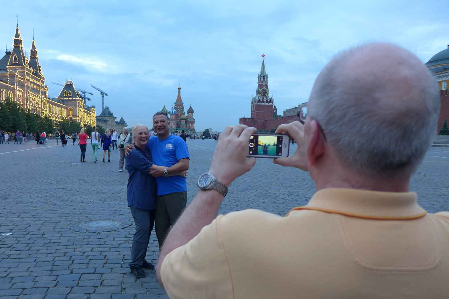 Taking photo at the Red Square