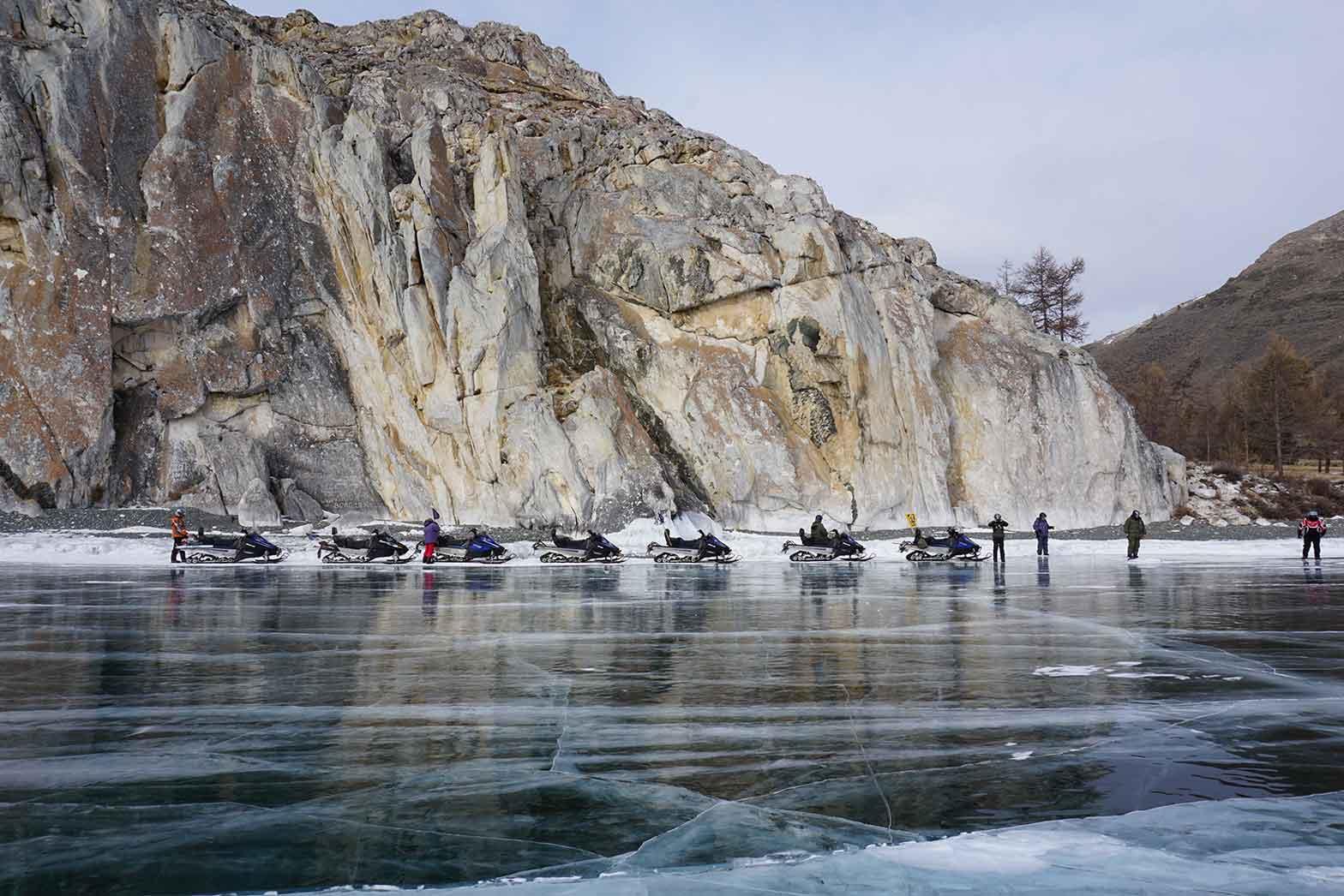 Riders on the ice