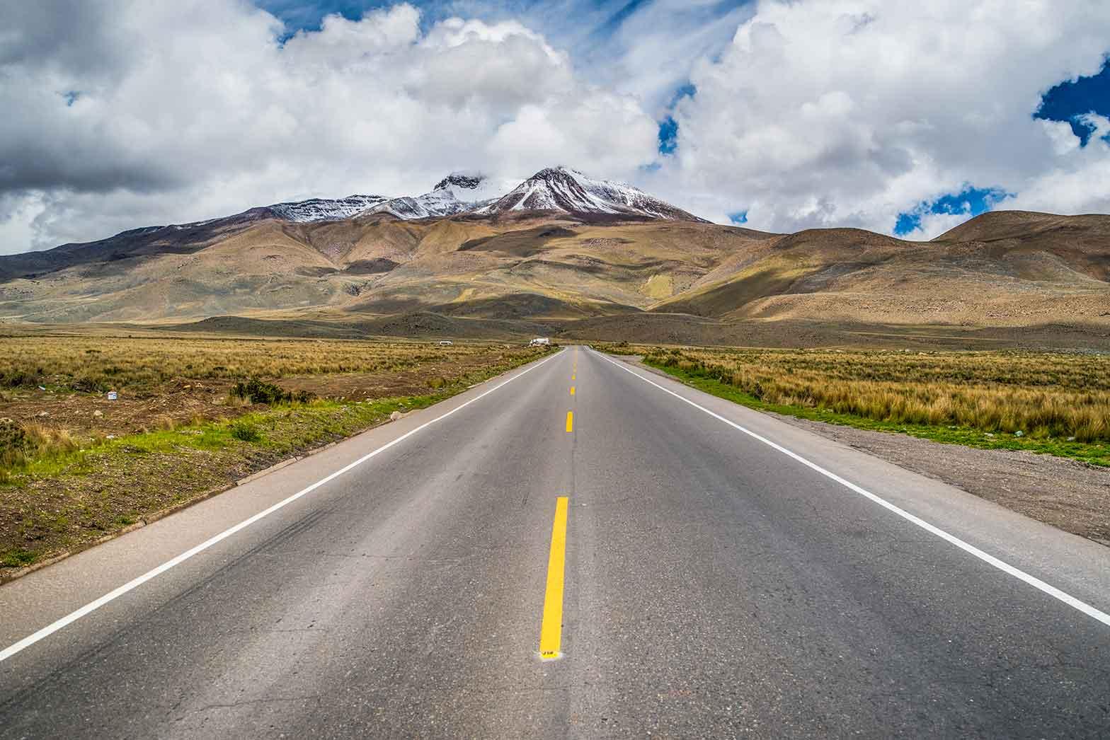 Riding the roads of Peru