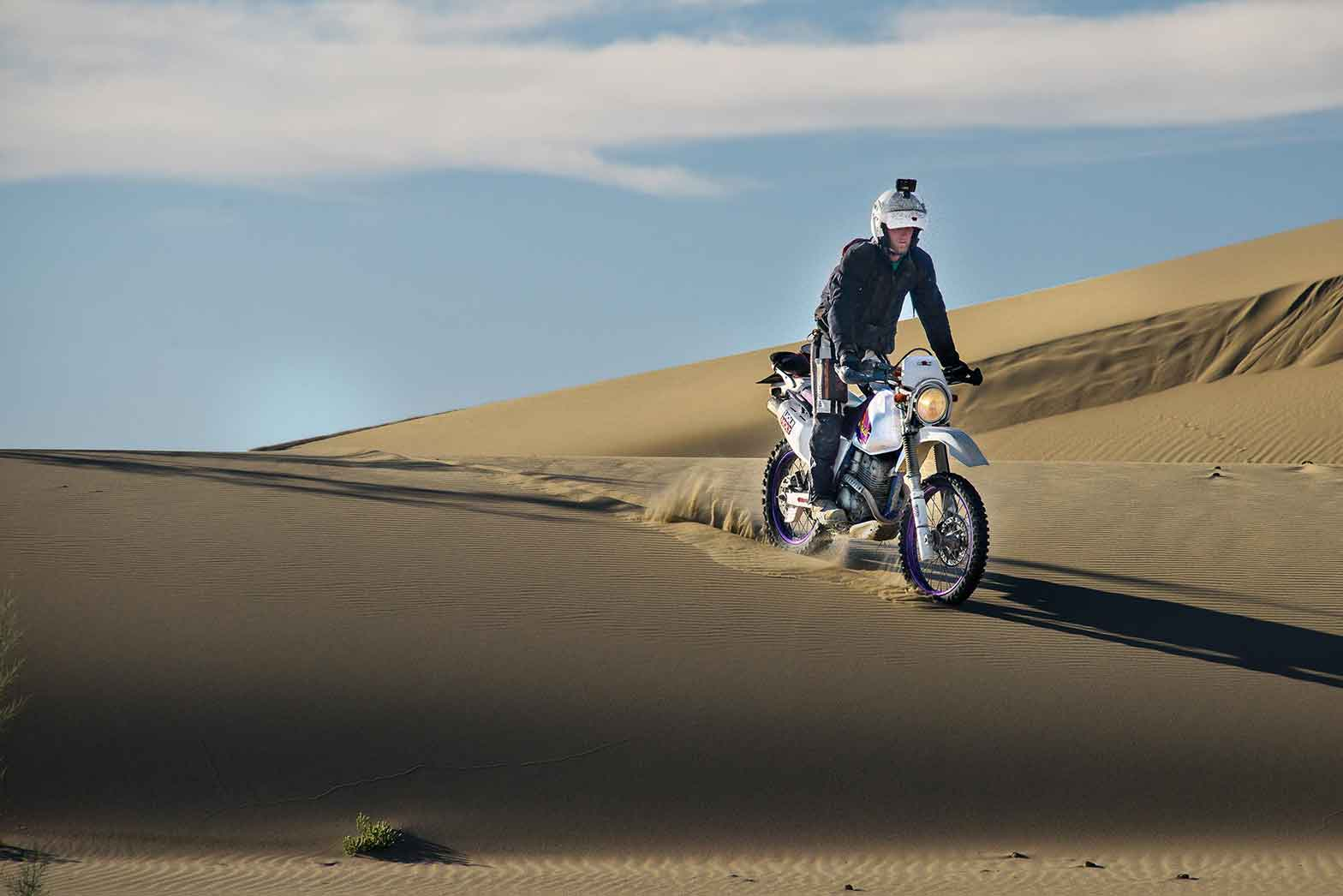 Riding the sand dunes in northwestern Mongolia
