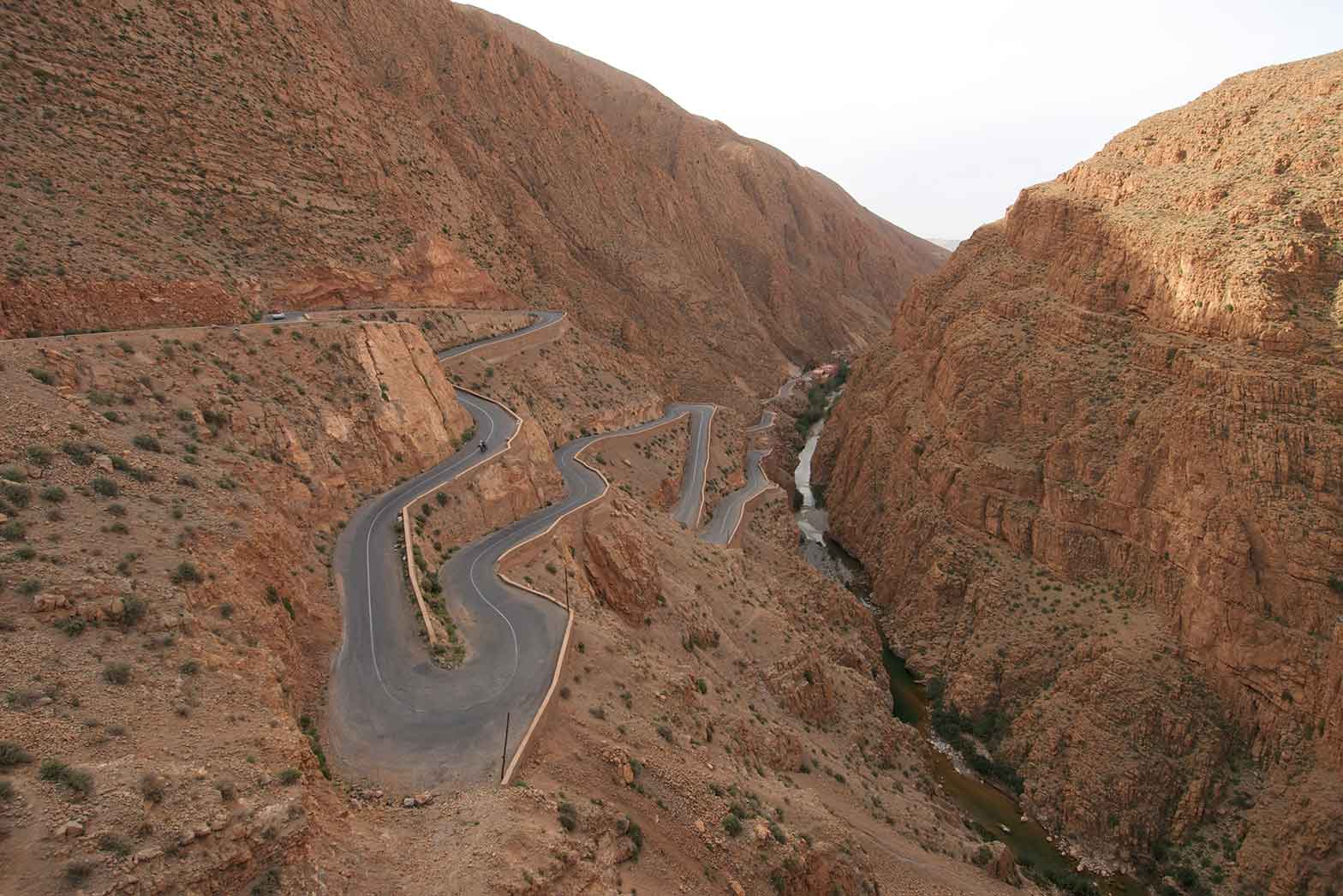 Road curves of the High Atlas Mountain