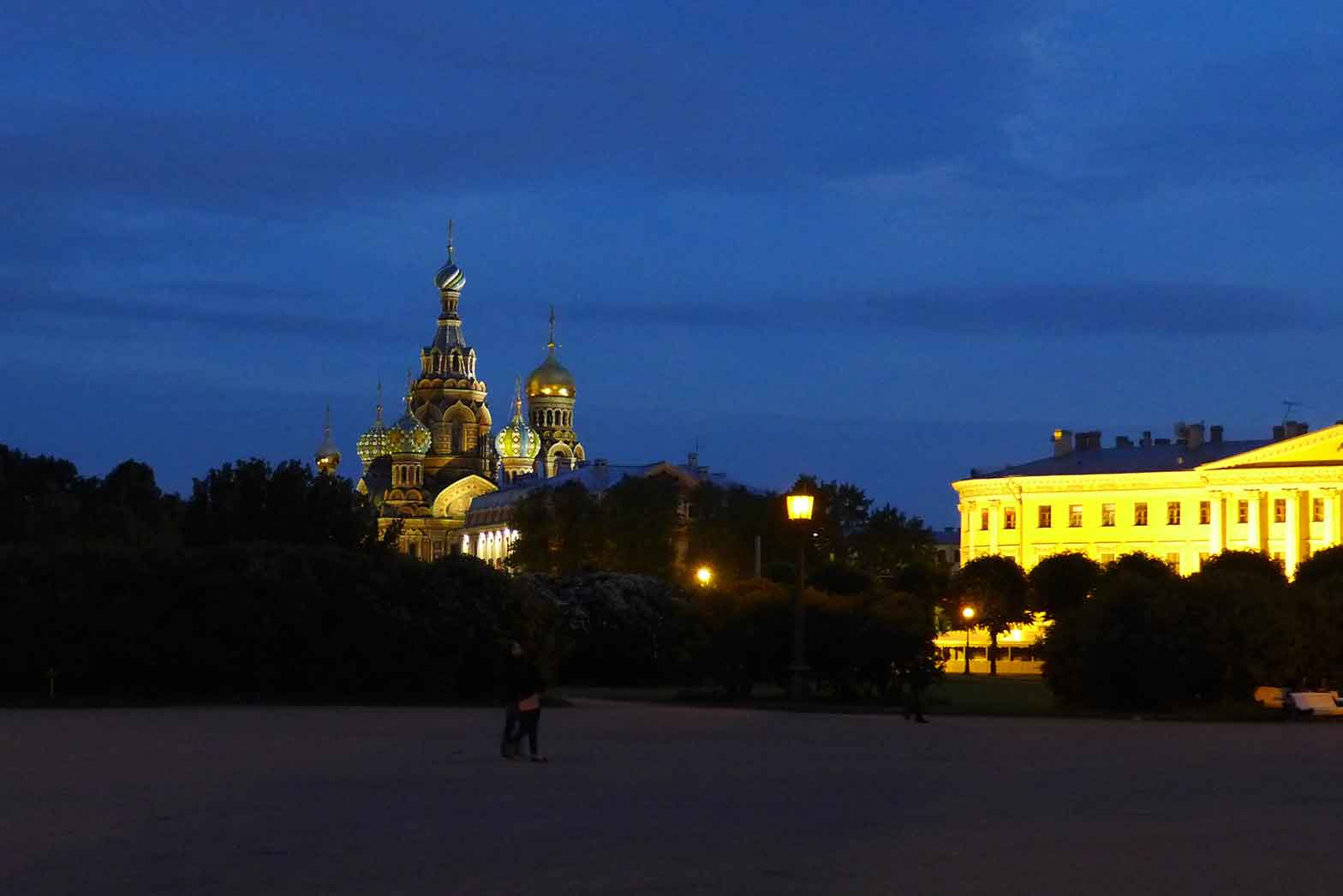 St. Petersburg at night