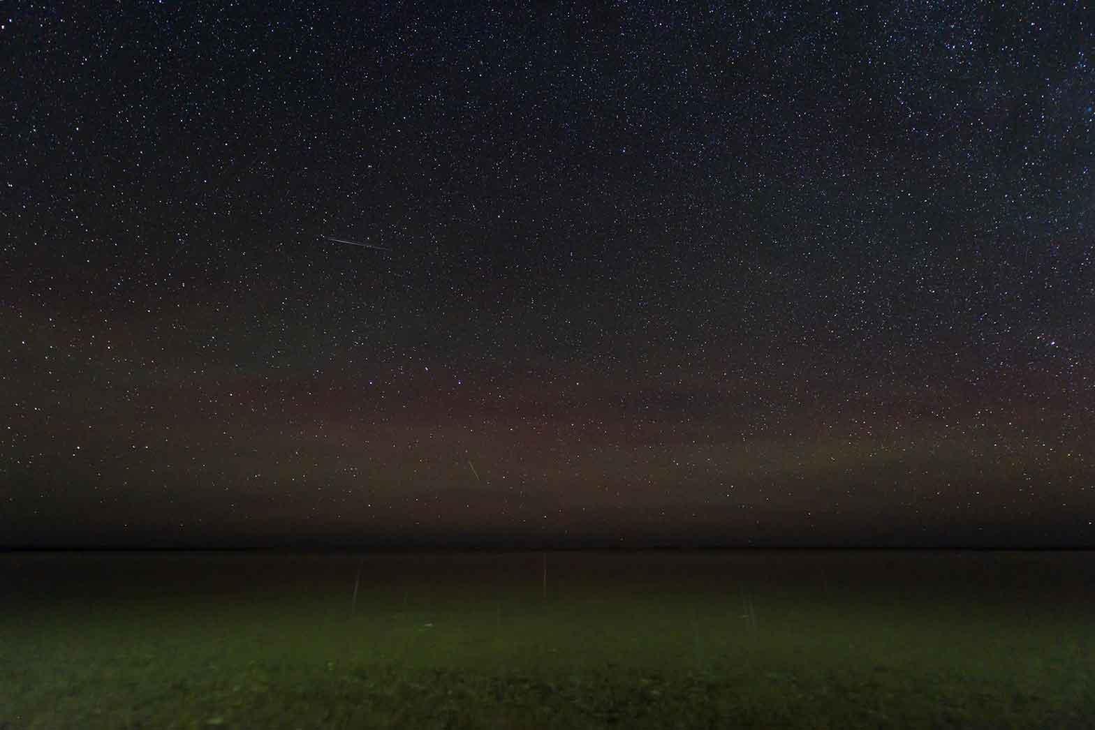 Star filled scene at Durgun Lake