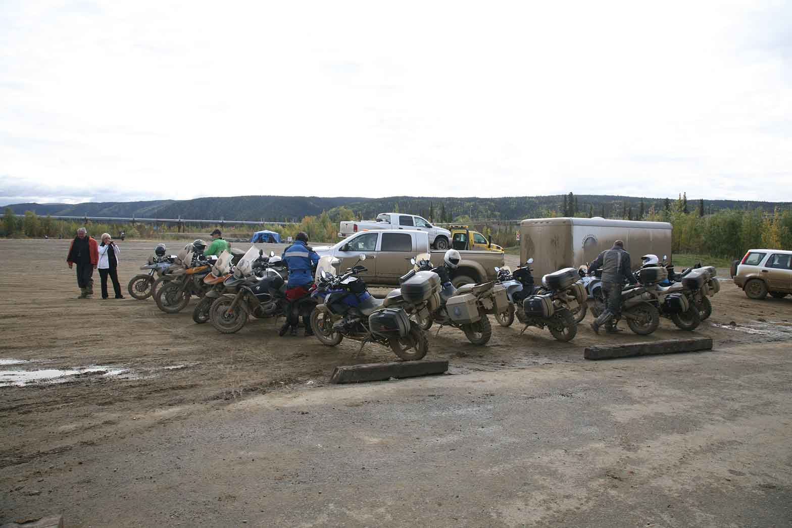 Stopping at the Yukon River
