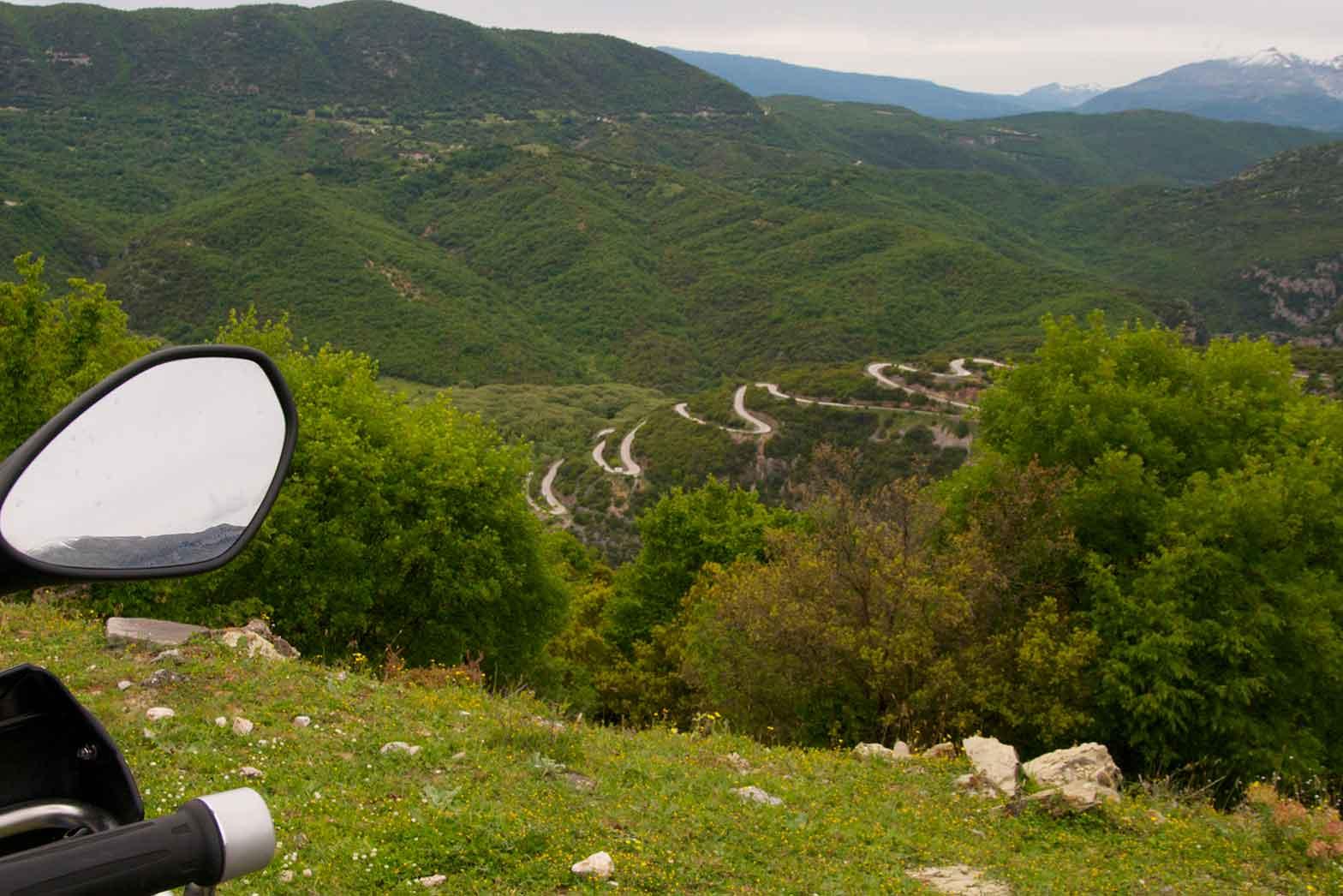 The Pindus mountain range