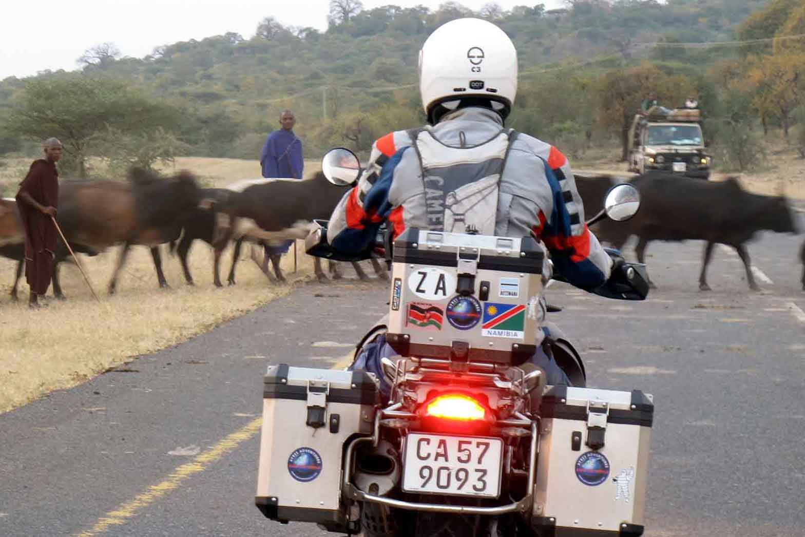Traffic jam in Kenya