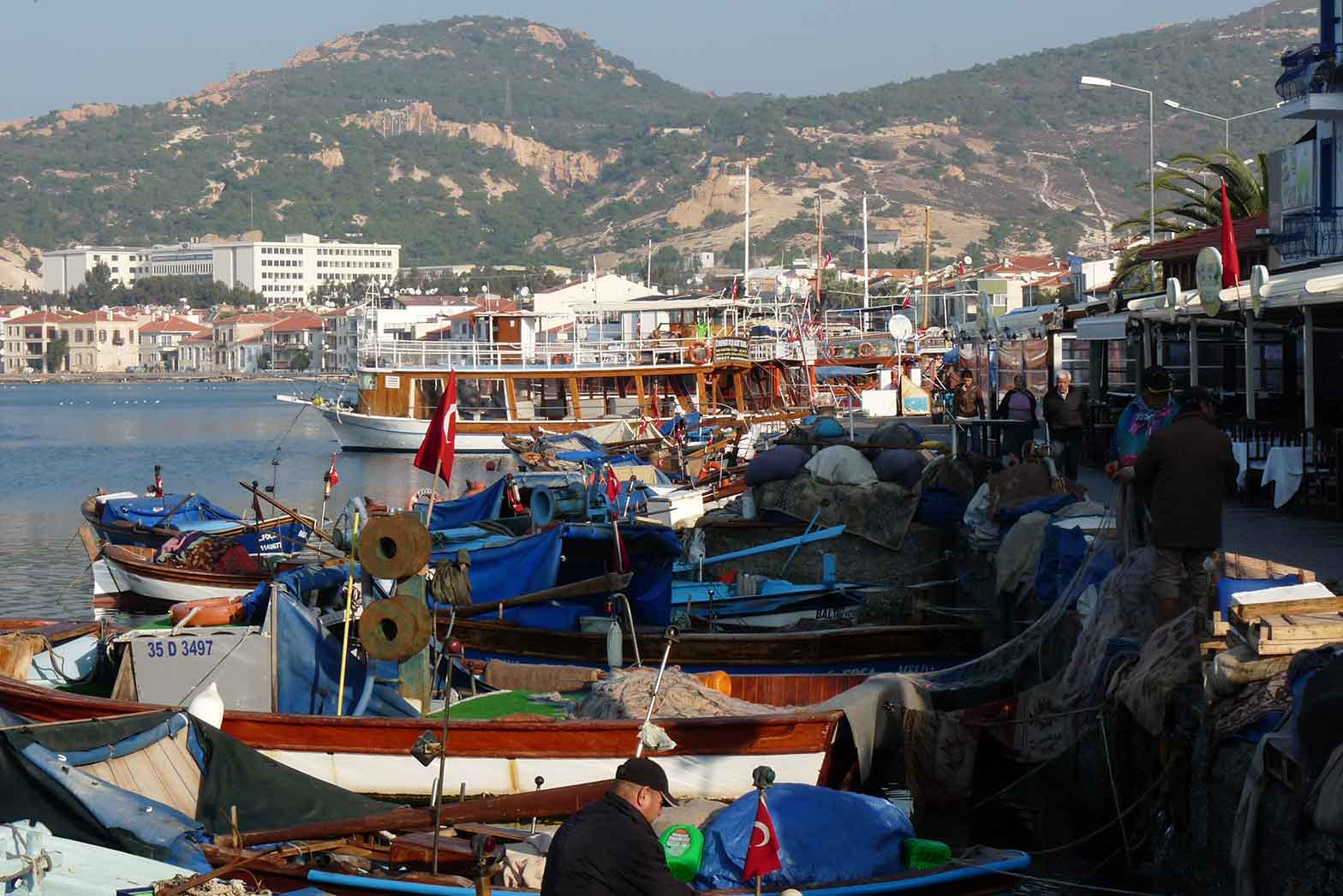 Turkish fishing harbour