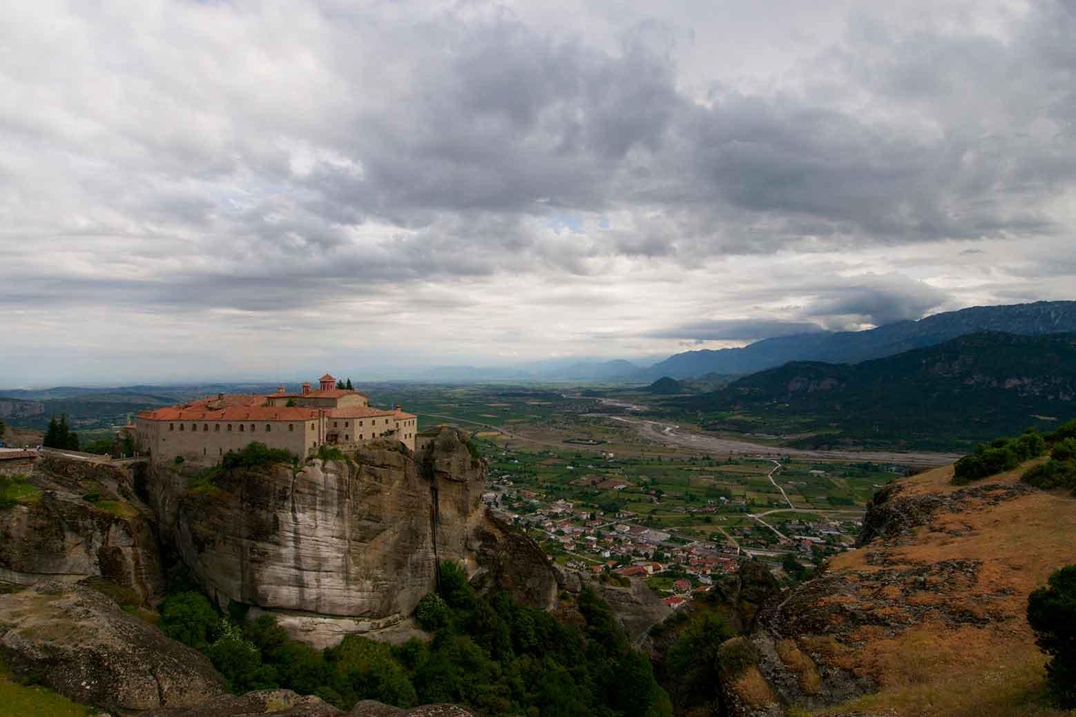 View of the Meteora Monasteries